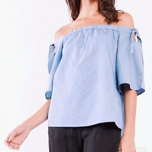 Streetwear society off the shoulder lavender top S